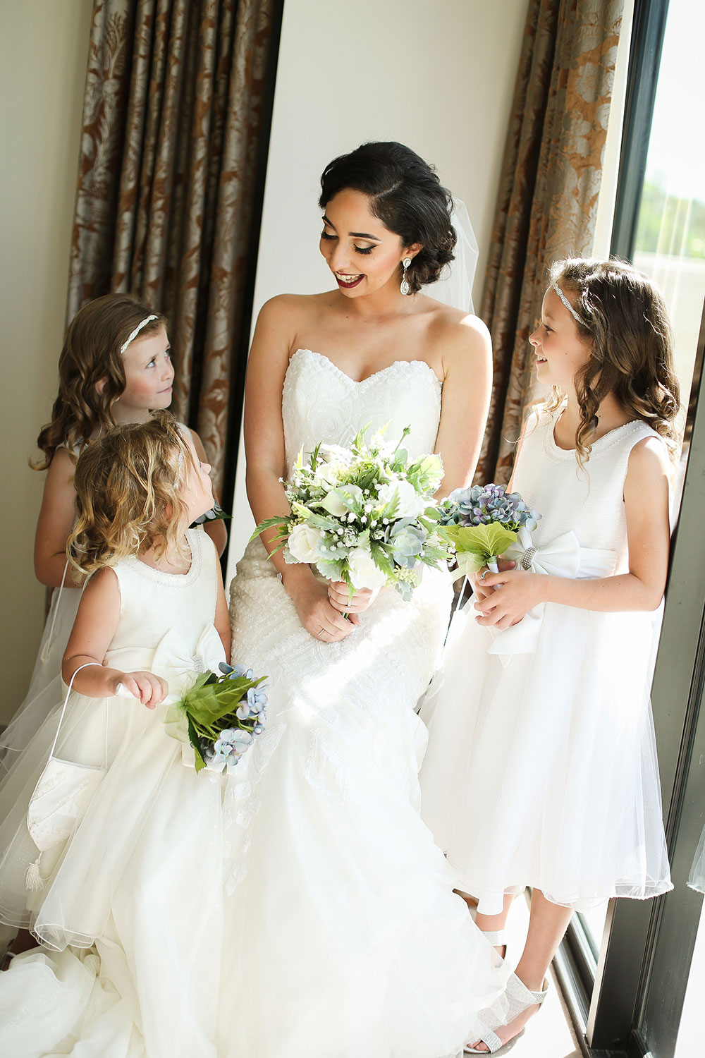 Lisa-Marie and her flowergirls