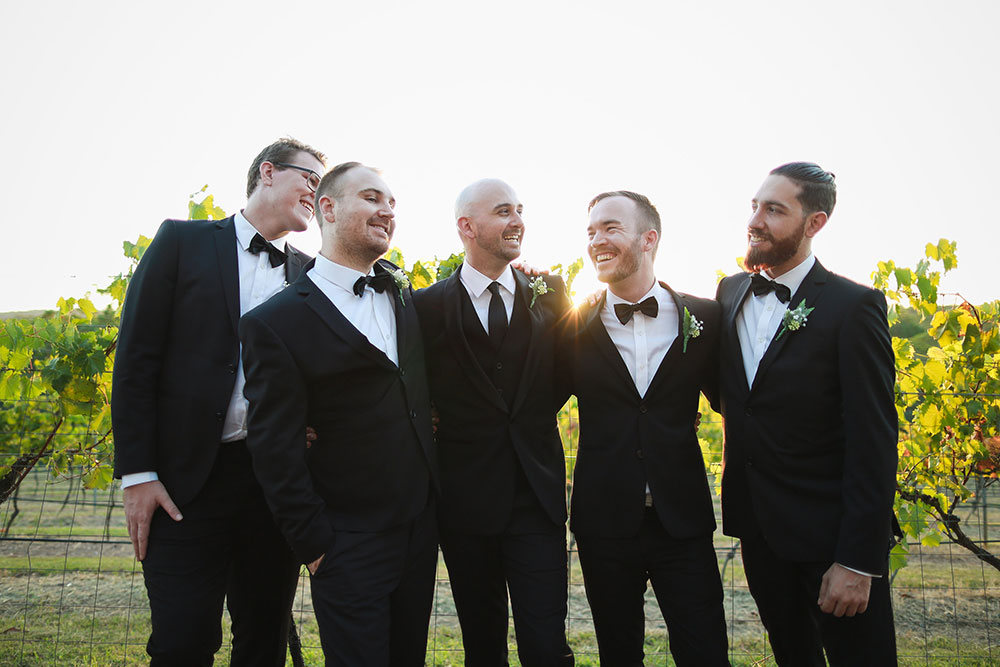 Dale and his groomsmen