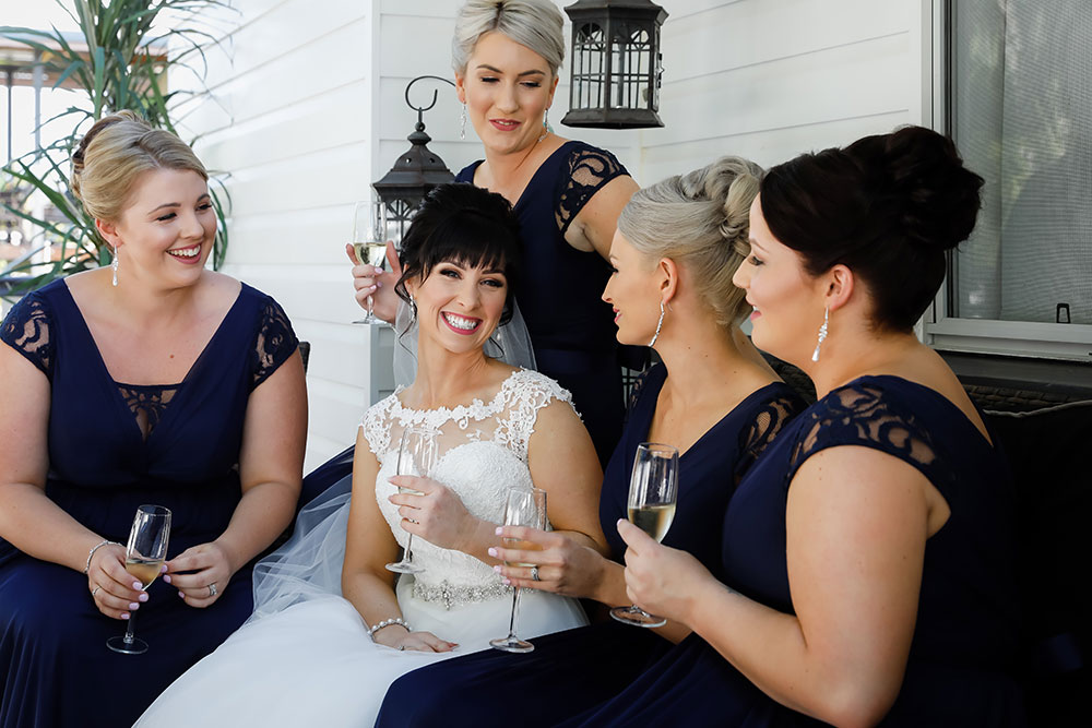 Aimee and her bridesmaids