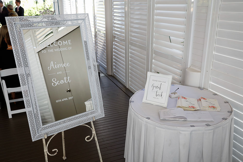 The greeting and guest book