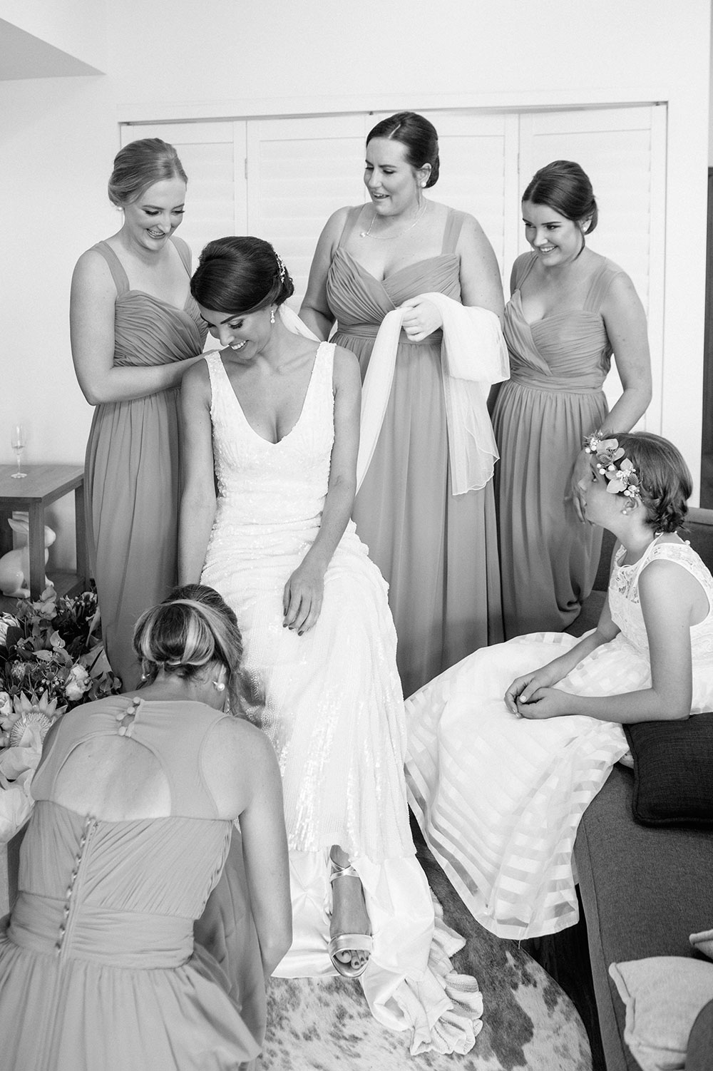 Lisette and her bridesmaids