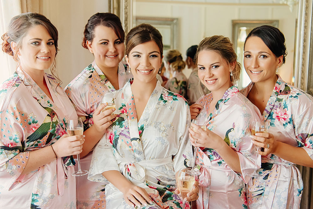 Yazmin and her bridesmaids