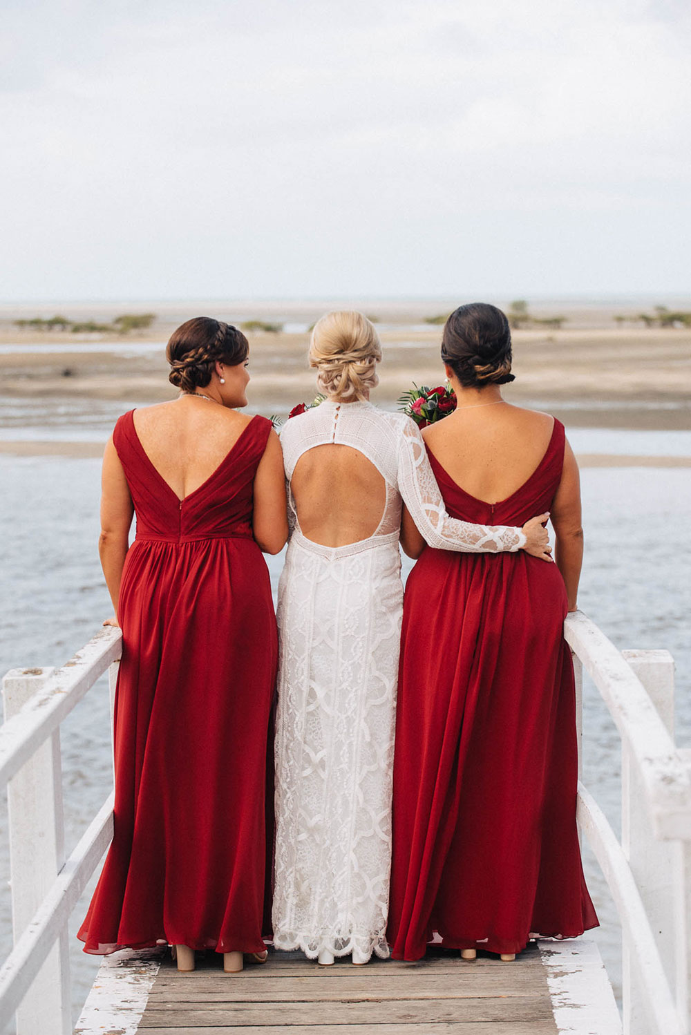 Krystle and her bridesmaids