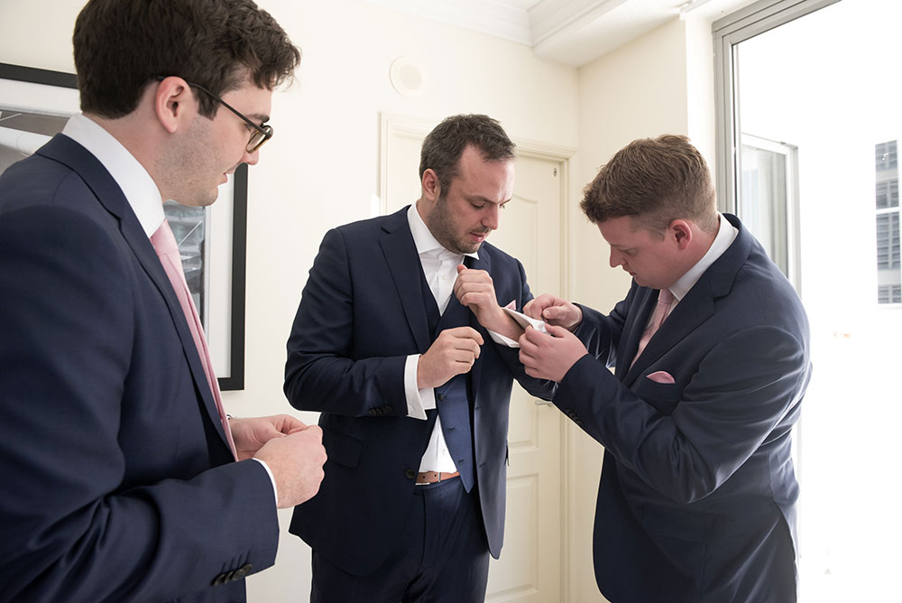 Fixing the cuff links