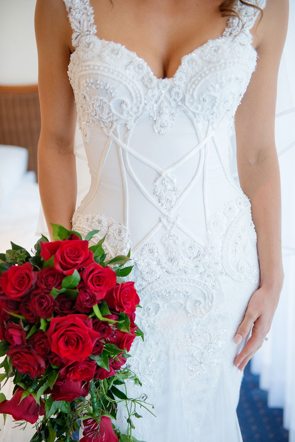Bridal gown detailing