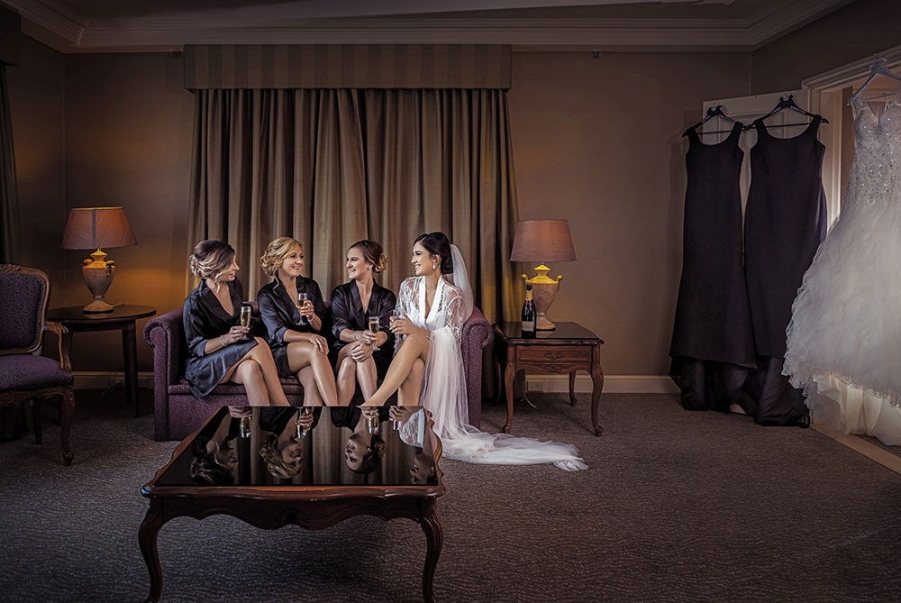 Danielle and her bridesmaids