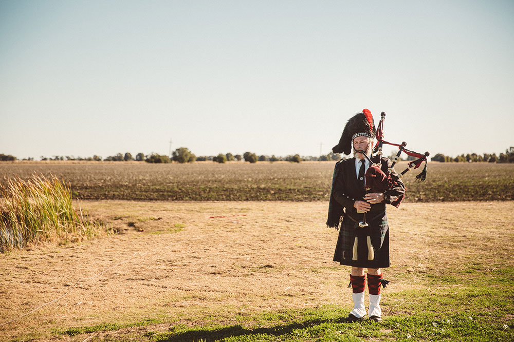 The Lone Bagpipe player