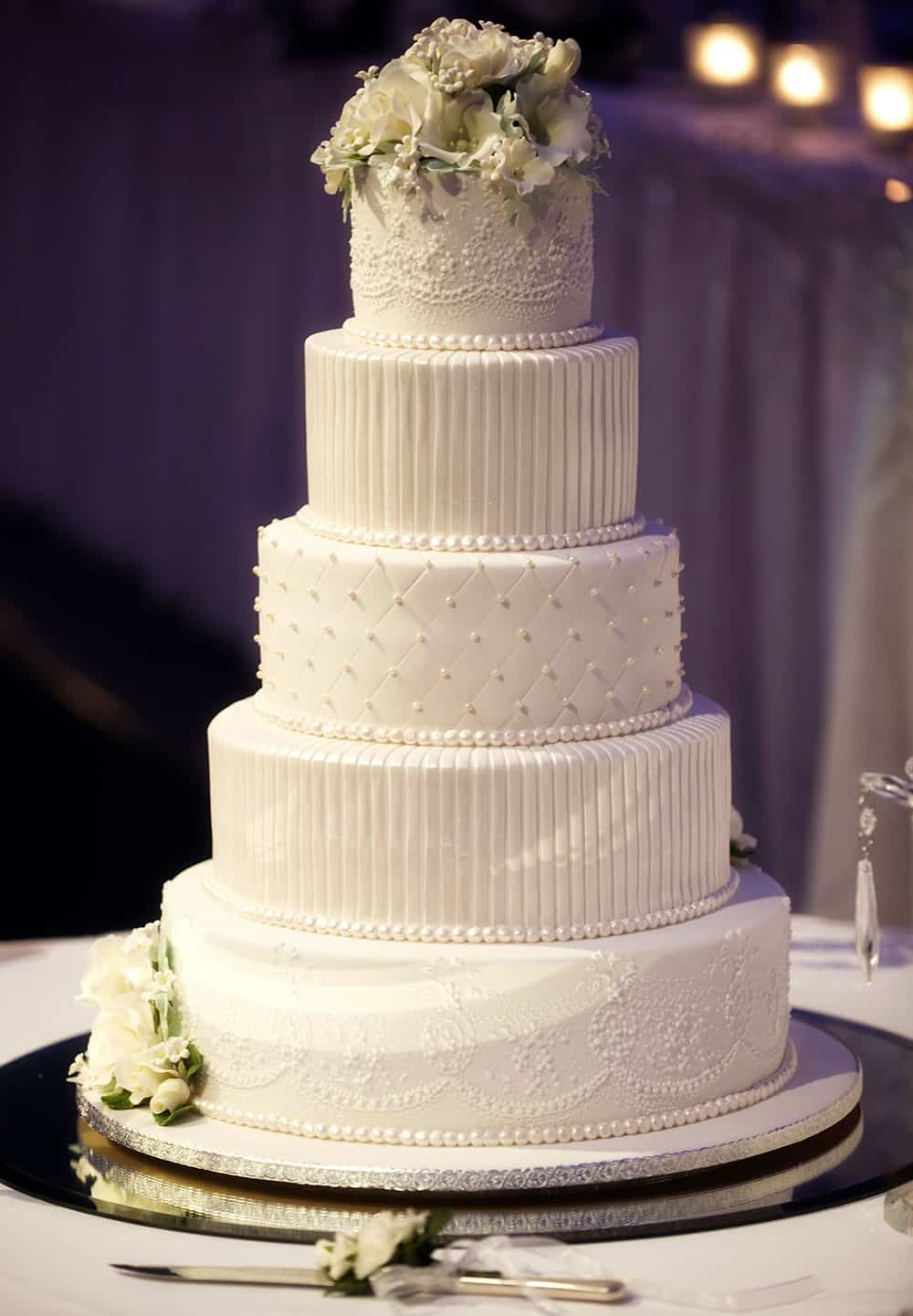 classic wedding cake white