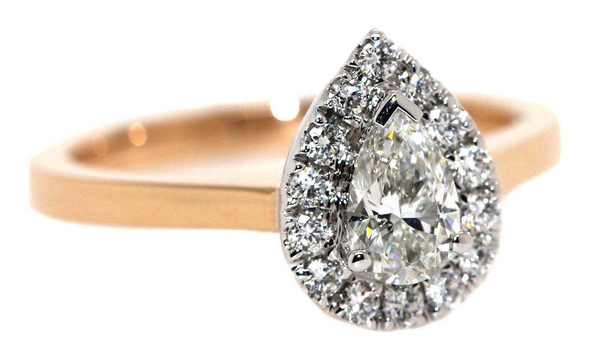 engagement rings - pear