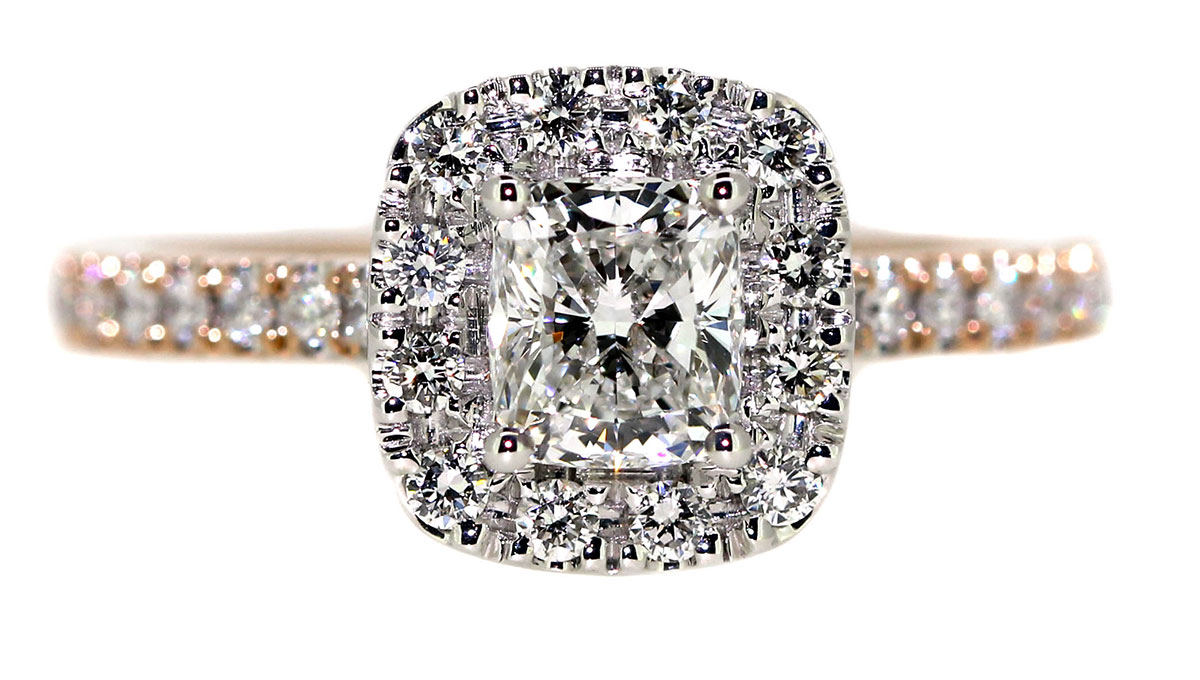 engagement rings: the cushion
