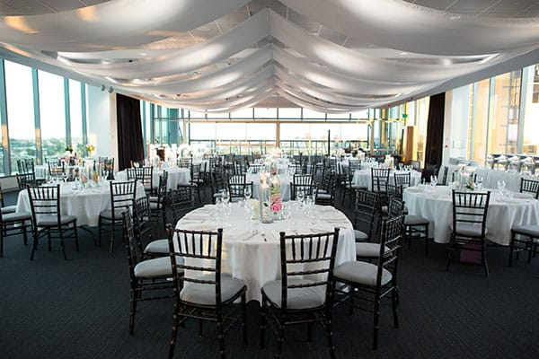 Reception setting at Room Three Sixty.