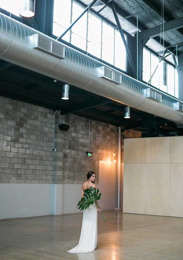 Bride on the lower level of The Joinery.