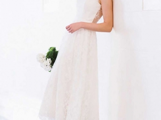 """""""Zoe"""" gown from the Ready-to-Wear Collection by Wendy Makin Bridal Designs."""