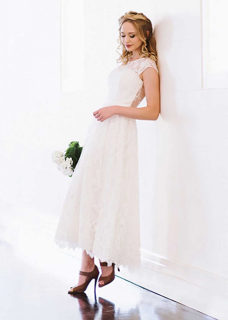 """Zoe"" gown from the Ready-to-Wear Collection by Wendy Makin Bridal Designs."