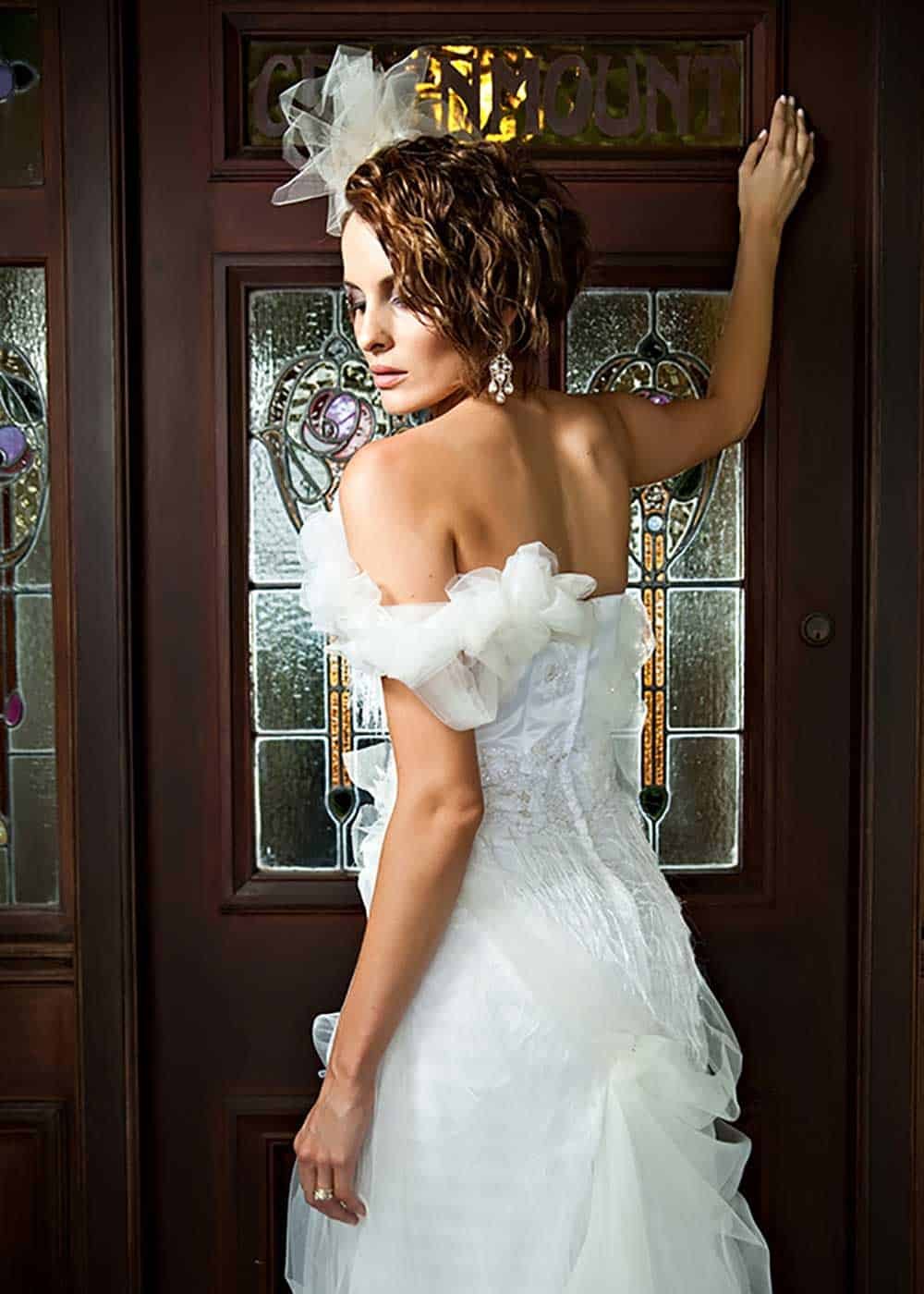 Millicenet Pearl backless gown from Anna Dutton Couture.