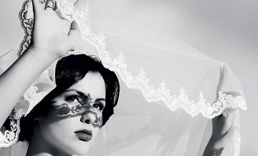Vintage wedding veil.