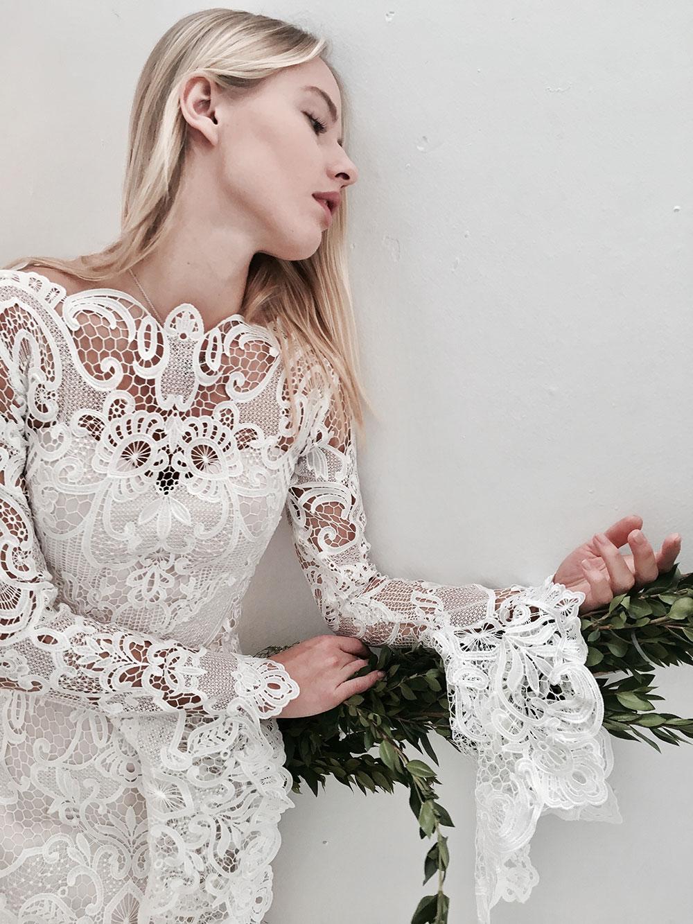 Jack Sullivan lace bell sleeve dress.