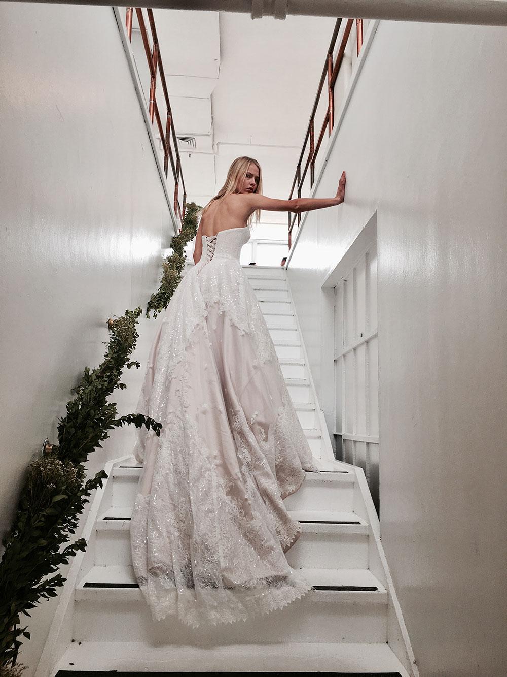 Jack Sullivan embellished wedding gown.