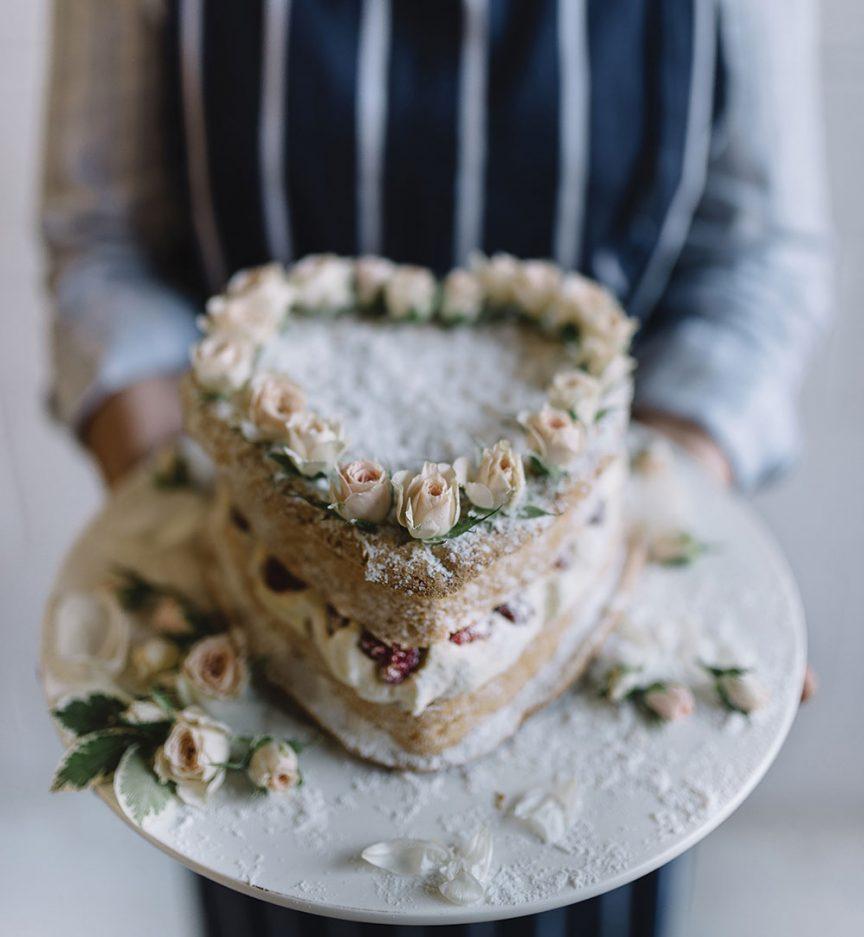 love heart cake by Gillian Bell