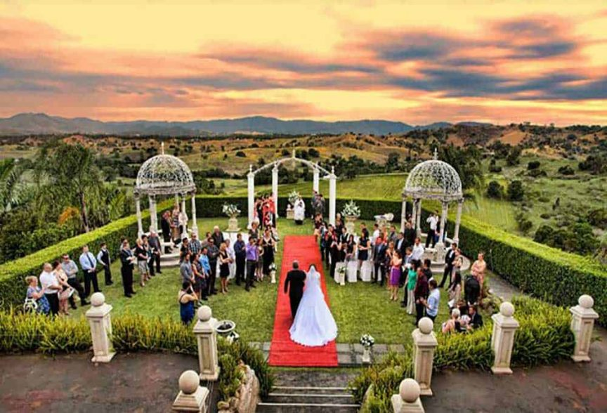 A wedding at Glengariff Historic Estate.