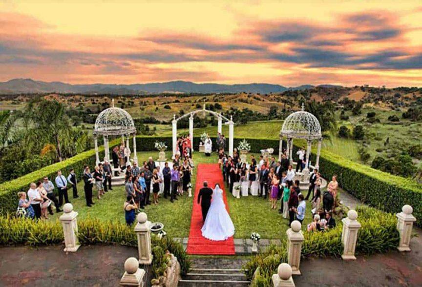 A wedding at Glengariff Historic Estate.