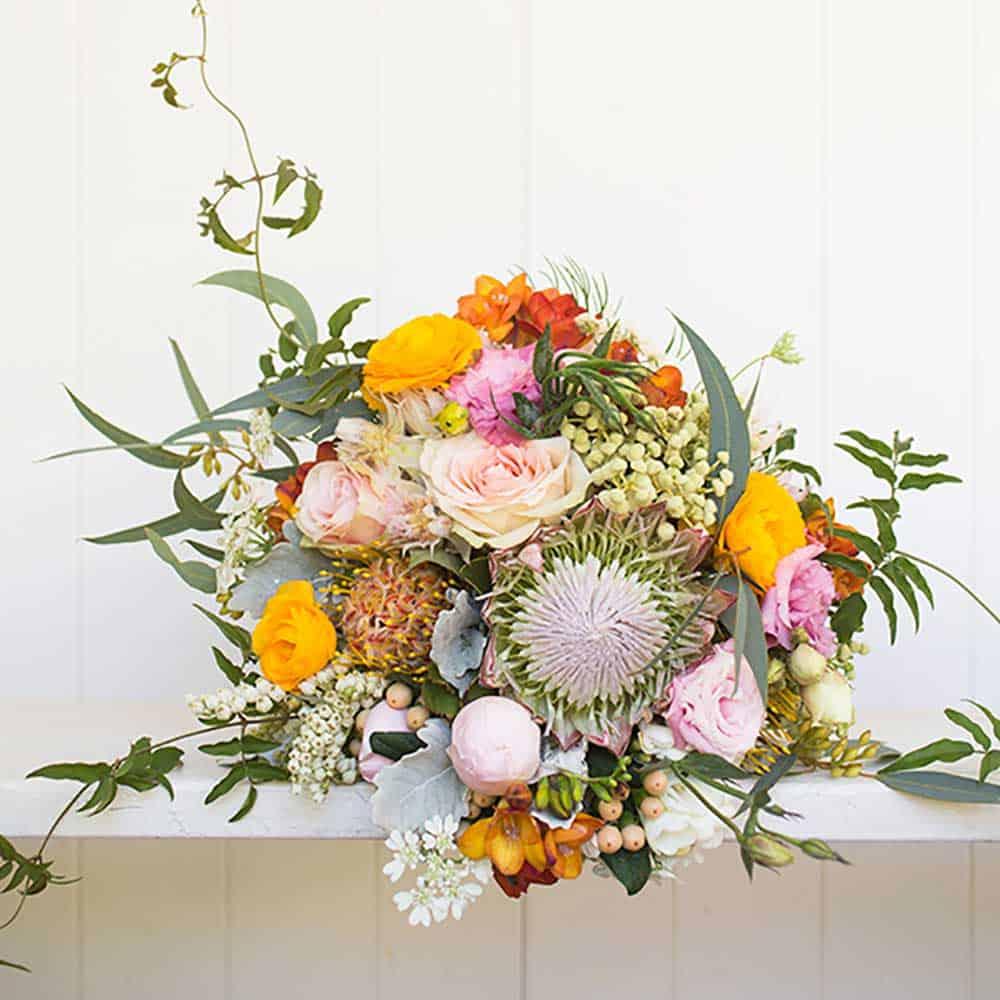 A native australian floral bouquet.