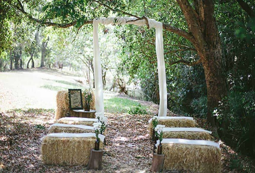 Country wedding style ideas.