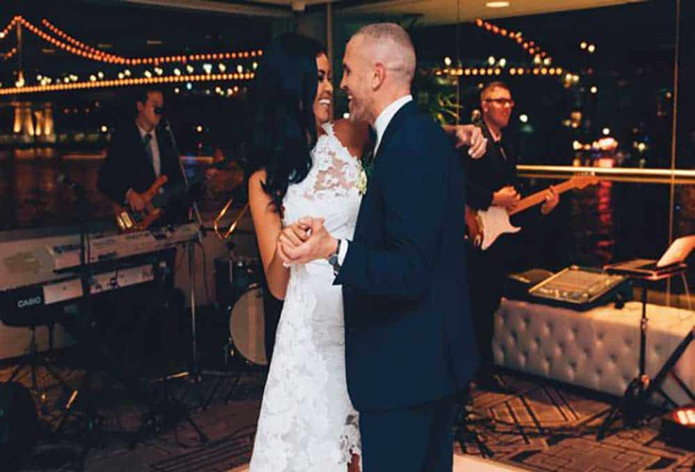 Bride and groom dancing at their wedding at Blackbird Private Dining & Events