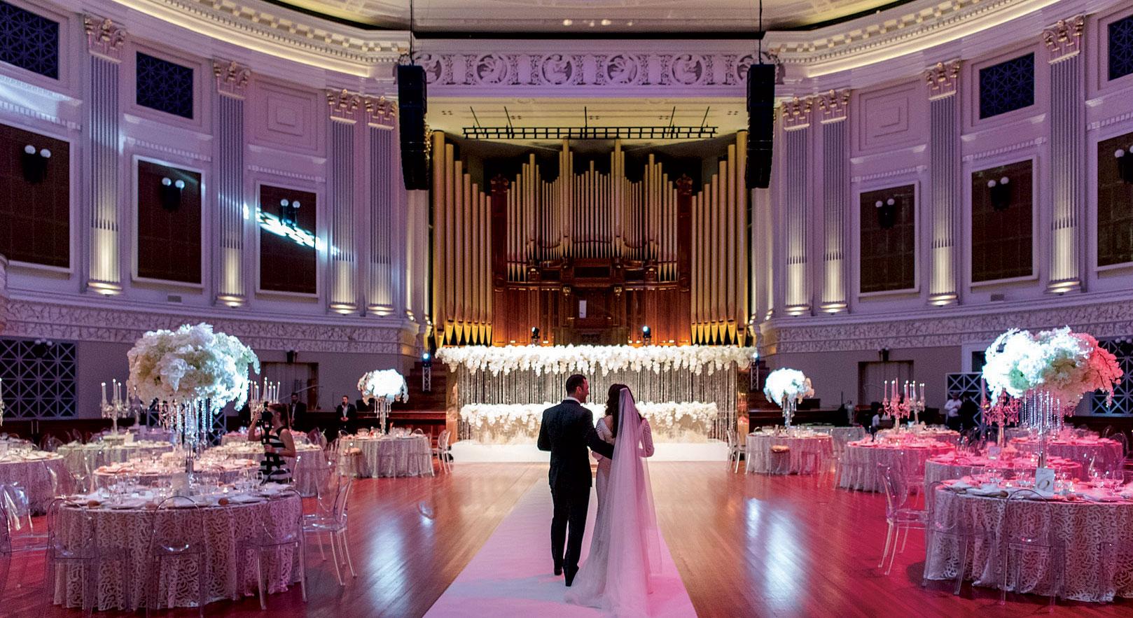 room reveals wedding trend