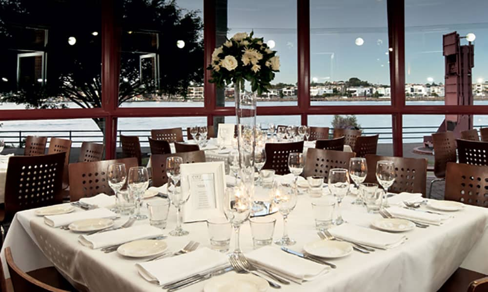 Riverside views at a Brisbane wedding at Eve's on the River.