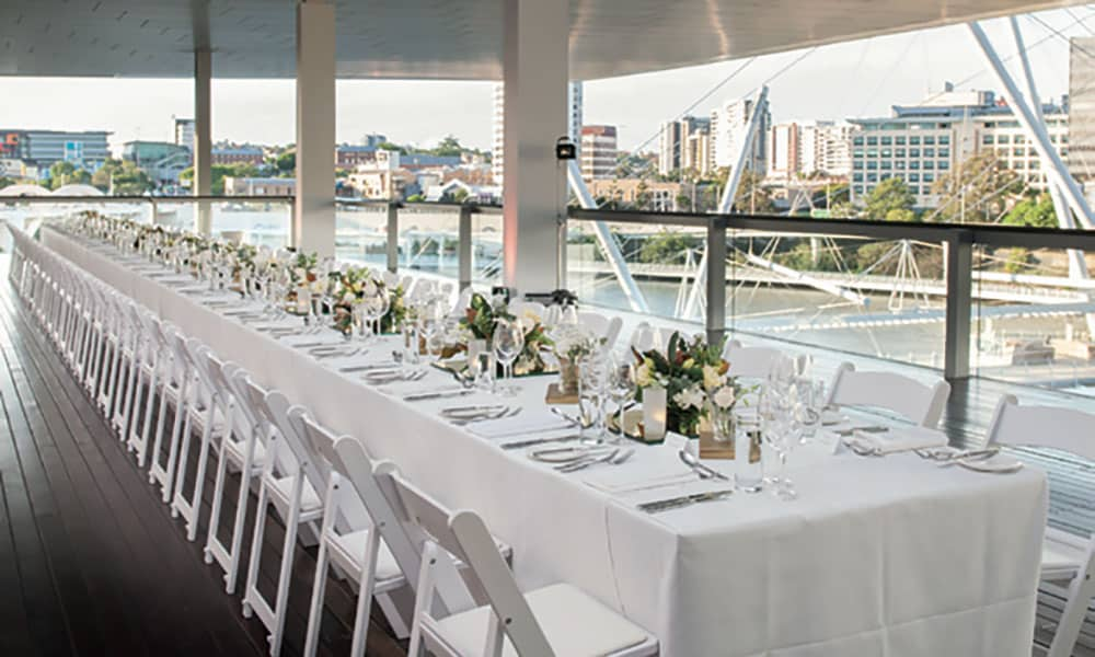 Brisbane riverside wedding at the Gallery of Modern Art.