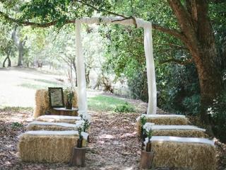 Intimate garden ceremony.
