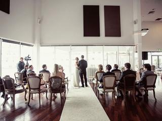 Indoor ceremony space.