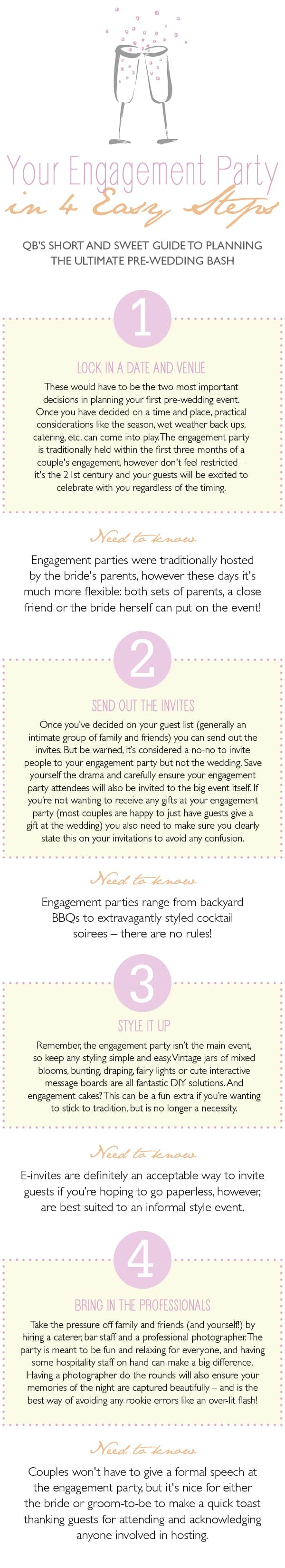 4 easy steps to the perfect engagement party
