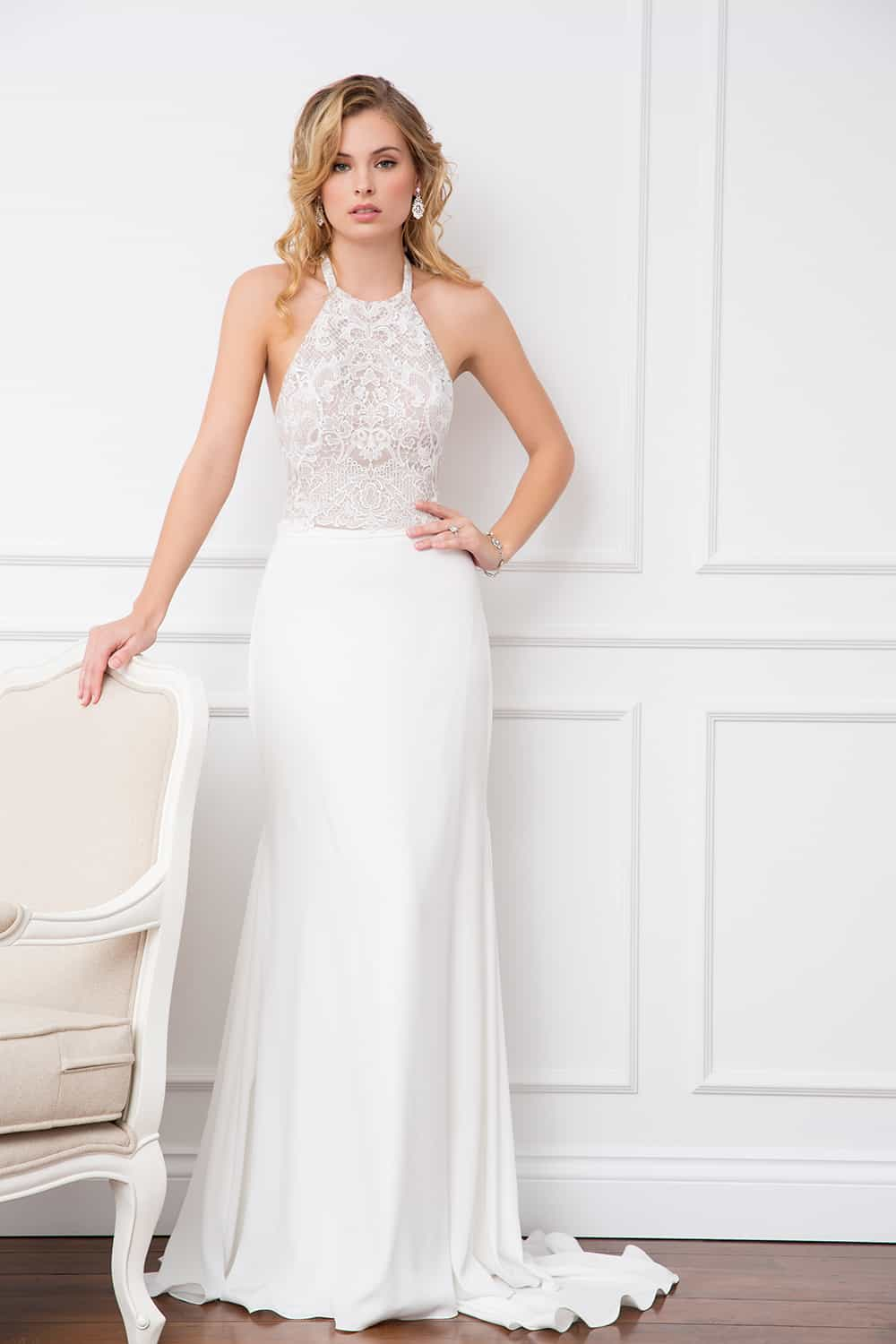 The Stefani embellished bodice and Valerie skirt from Wendy Makin Couture.