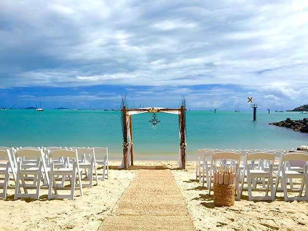Airlie beach wedding ceremony