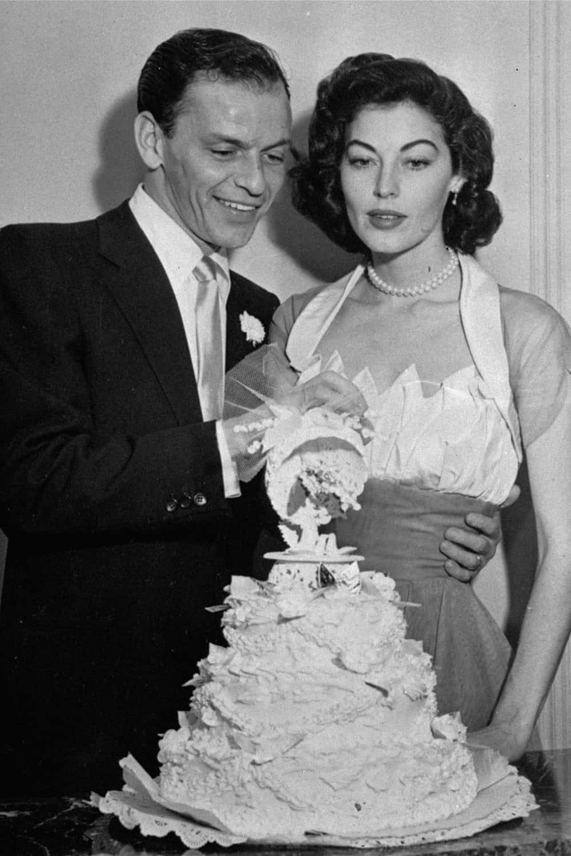 Wedding of Ava Gardner.