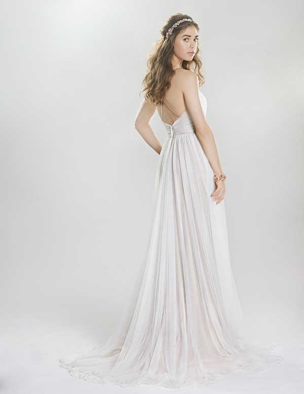 Lilian West pleated wedding gown from Spring Summer 2016 collection