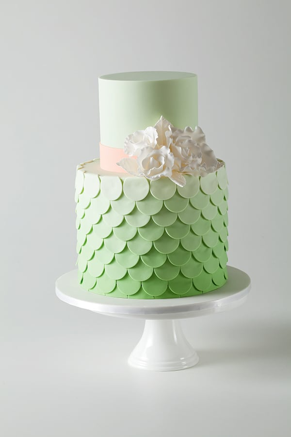 green and white wedding cake by Frosted Indulgence