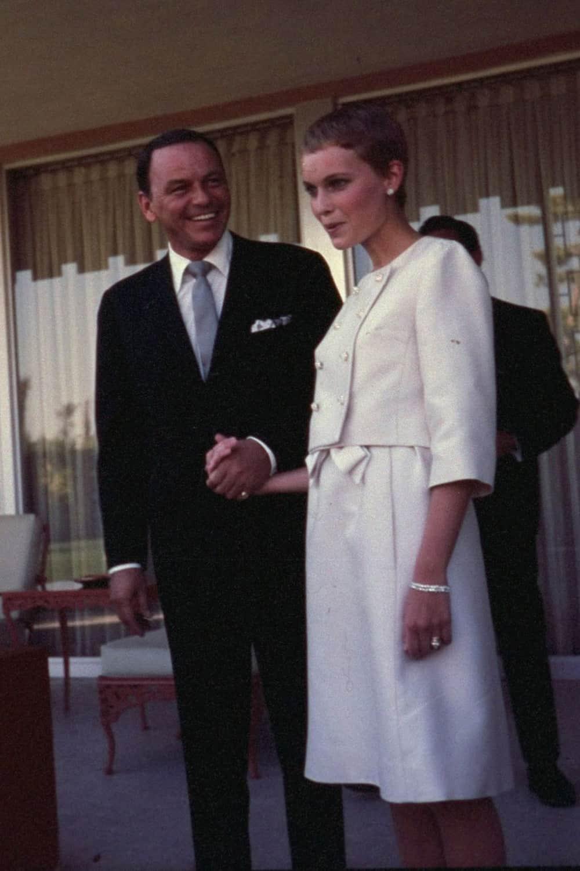 Wedding of Mia Farrow.