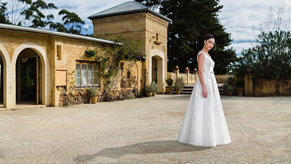 "The ""Ava"" gown from Bertossi Brides french inspired bridal collection."