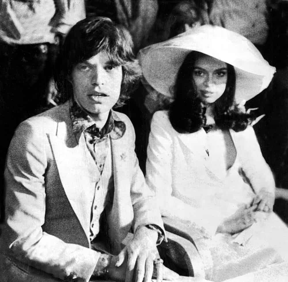 Wedding of Bianca Jagger.