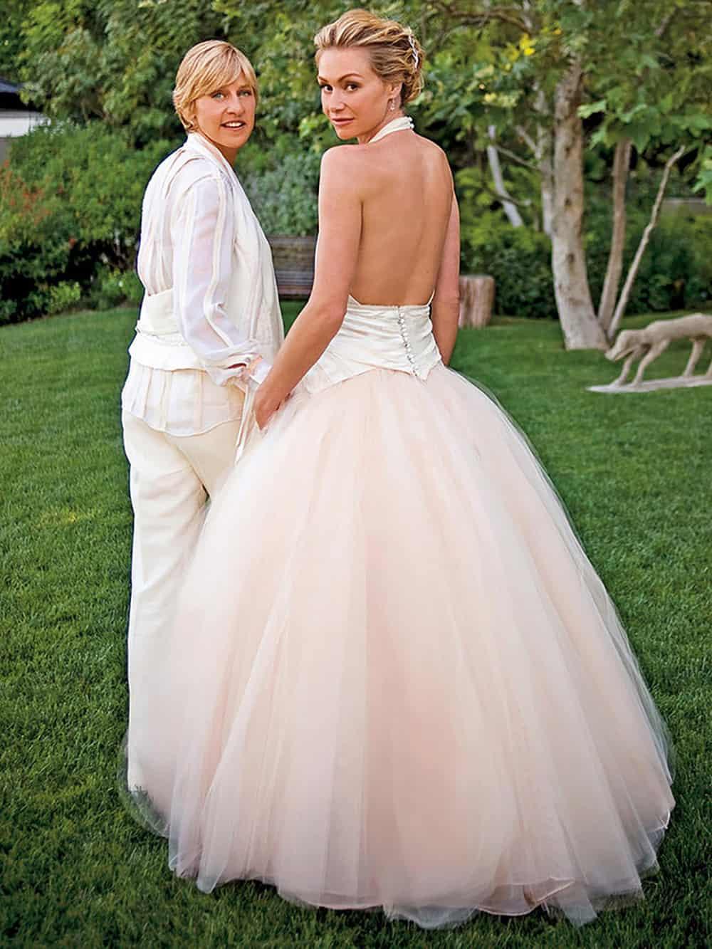 Wedding of Portia De Rossi & Ellen Degeneres.