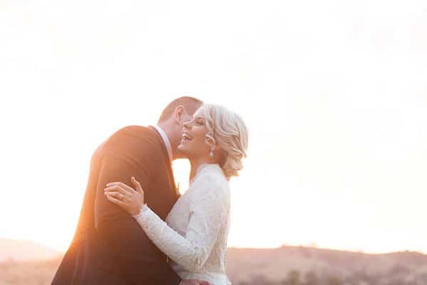 A Winter Wedding: bride and groom.
