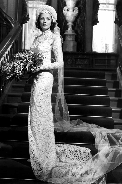 Wedding of Gene Tierney