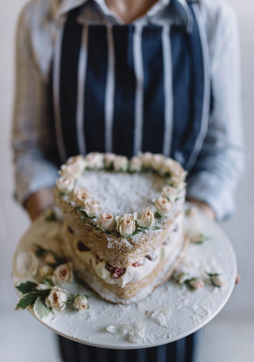 love heart wedding cake by Gillian Bell