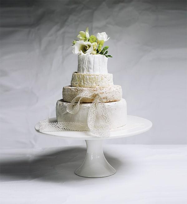 cheese wheels wedding cake