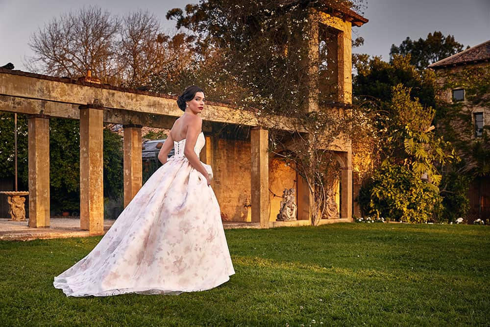 Bertossi Brides floral wedding dress.