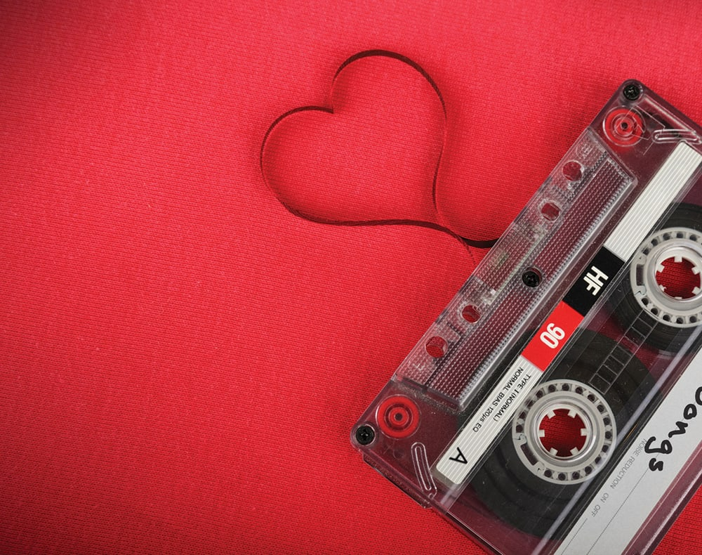 Mixtape with love heart