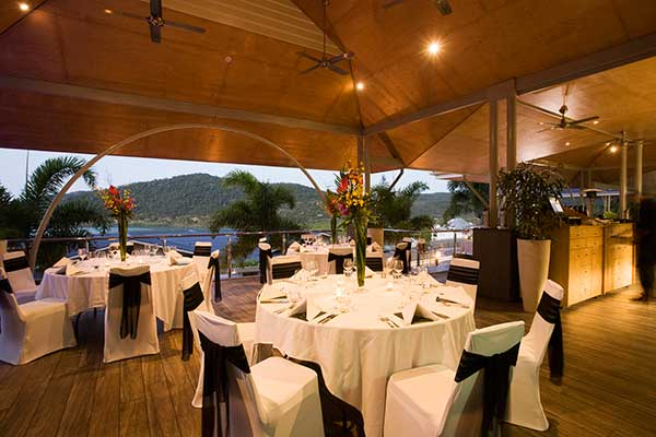 Wedding reception at Peppers Airlie Beach